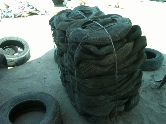 pickup of recycled tire in New York